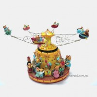 Amusement Park Airplane Rotating Music Box
