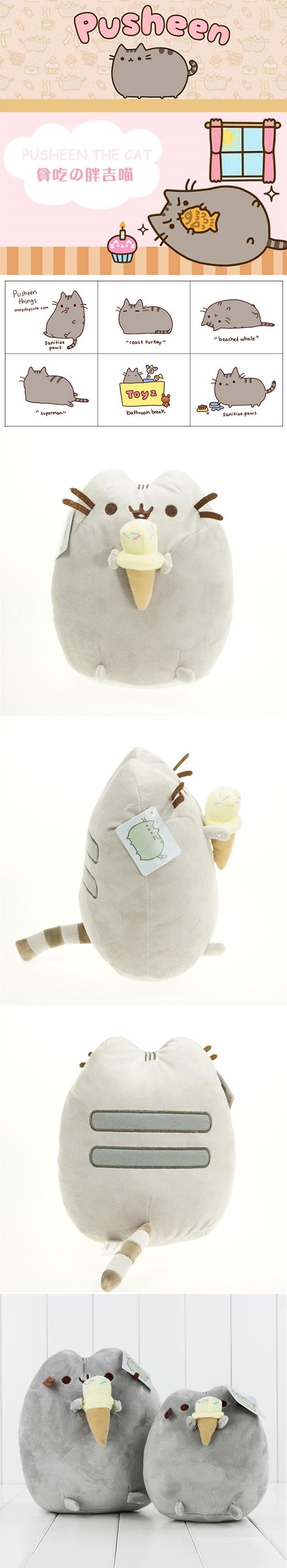 Pusheen Cat With Ice Cream